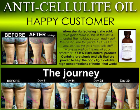 All Natural Anti Cellulite Oil Treatment That Works For Thighs with Caffeine and Essential Oils - DevotedThings