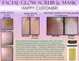 Facial Glow Daily Cleanser Acne Scars Skin Bleaching Soap, Scrub, Mask Natural Herbal Bleach - DevotedThings