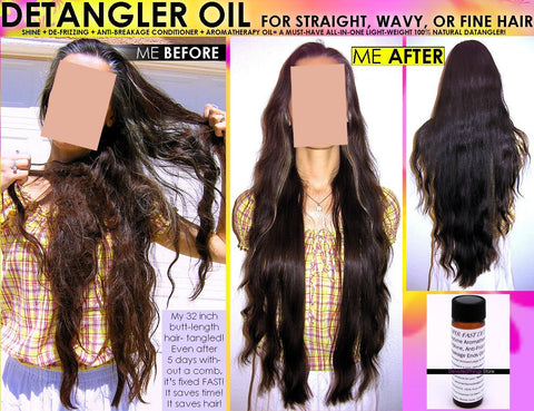 Natural Chemical Free Hair Detangler Oil For Straight Wavy Or Fine Hair - DevotedThings