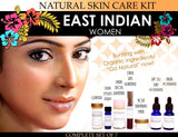 East Indian Women Kit - Natural Skin Care Kit For East Indian Women Features Lightening And Toning Set Of 7
