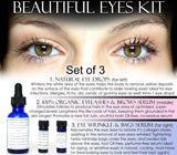 Eye Products Kit, Natural Eye Products - Beautiful Eyes Kit Set Of 3 Natural Products Discount