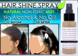 Natural Hair Shine Spray Mist Gloss Clear Illuminator No Oil - DevotedThings