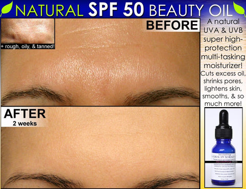 Natural SPF 50 Face Moisturizer Beauty Oil For Skin Lightening, Oily Skin Oil Control - DevotedThings