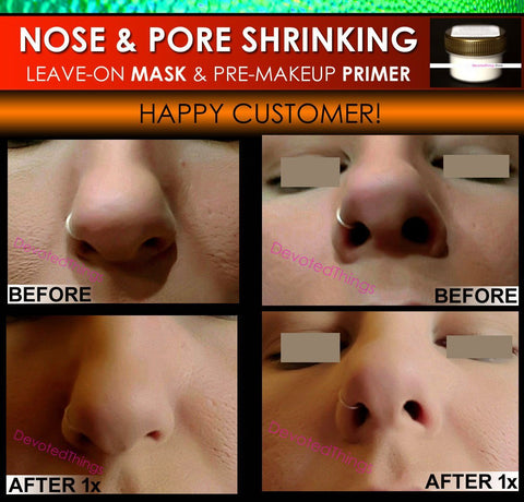 Nose Shrinking, Pore Shrinking Mask - Nose Shrinking Mask & Pore Minimizing Primer Filler Makeup Trick Nose Job