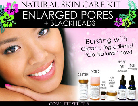 Skin Care Kit For Enlarged Pores And Blackheads - Natural Skin Care Kit For Enlarged Pores And Blackheads Pore Refining Complete Set Of 6