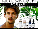 Natural Skin Care Kit For Men, Oily Skin, Enlarged Pores, and Acne Basic Set of 5 - DevotedThings