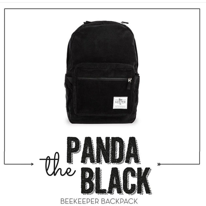 The Panda Black (Corduroy) BeeKeeper Backpack (Masterpiece Range)