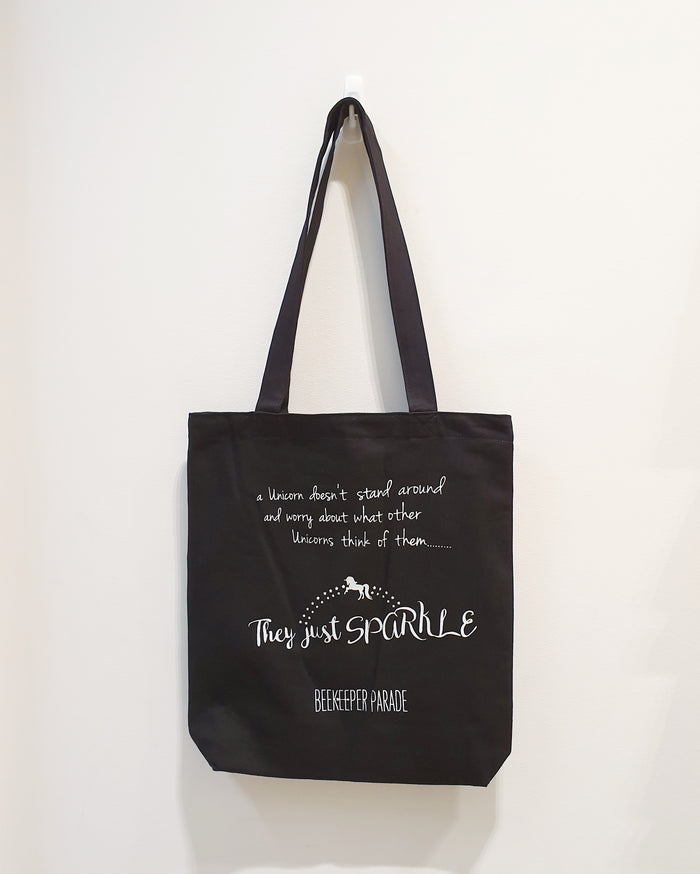 "The ""Sparkle Unicorn"" Quote Tote (Large)"