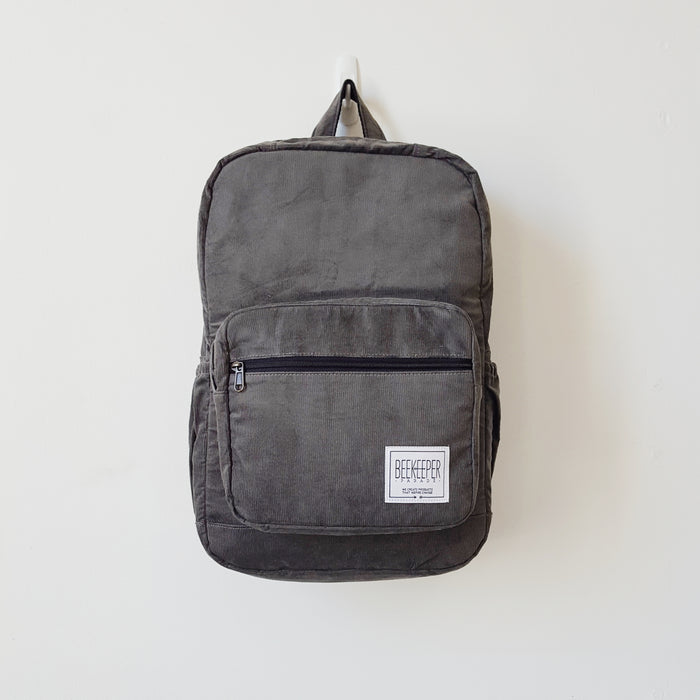 The Panda Grey Corduroy Royal BeeKeeper Backpack (Masterpiece Range)