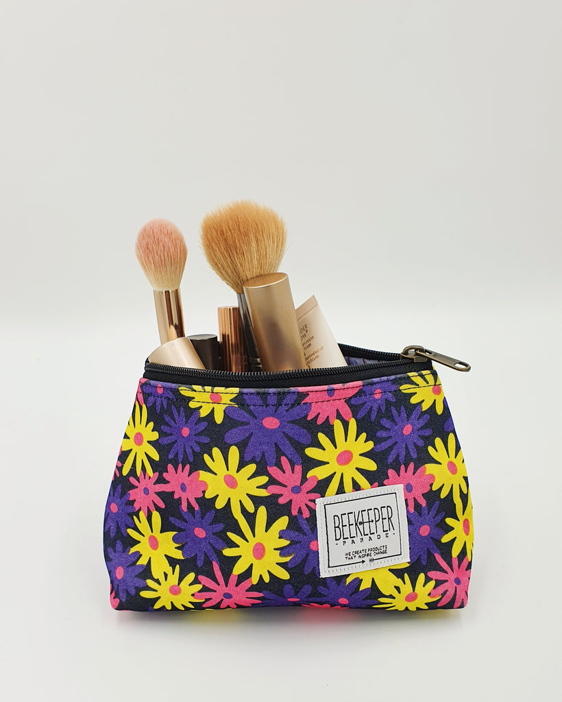 The Denim Drive Toiletry + Makeup Bag