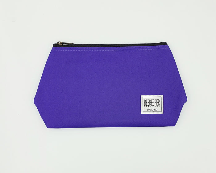 The Purple Canvass Toiletry + Makeup Bag