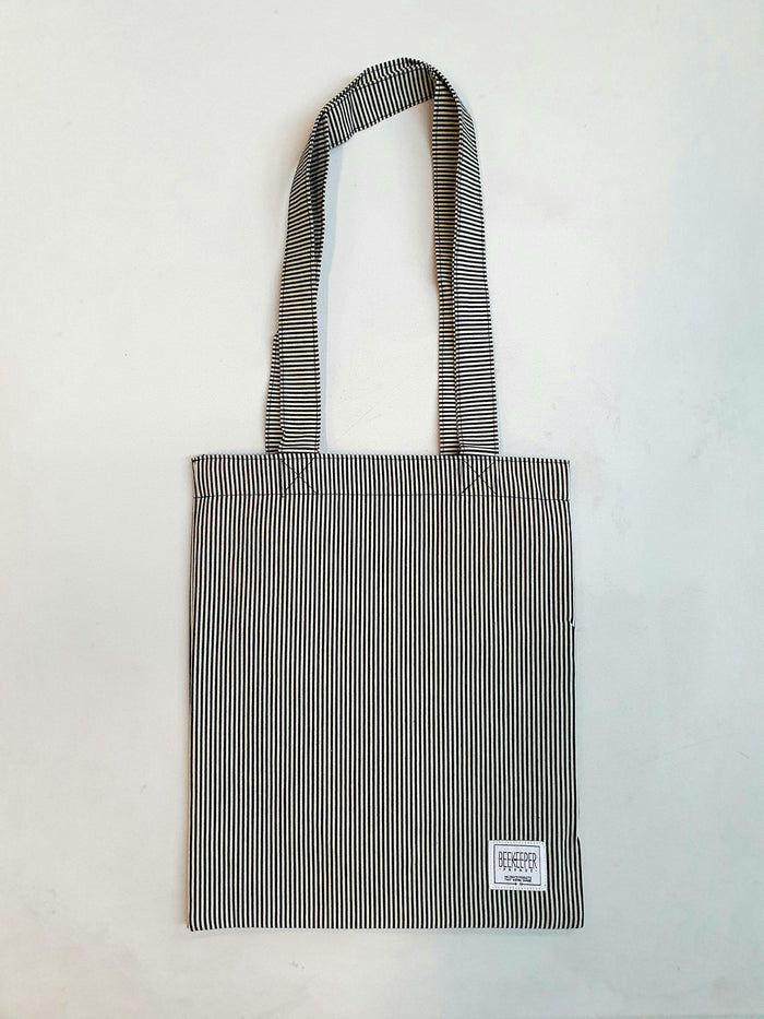 The Summer Blue Stripes Tote (Medium)