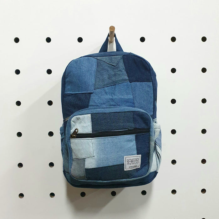 The Denim Drive Mini-Royal BeeKeeper Backpack
