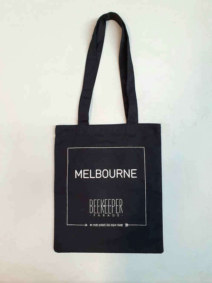 The Melbourne Tote Medium (Black Canvass)