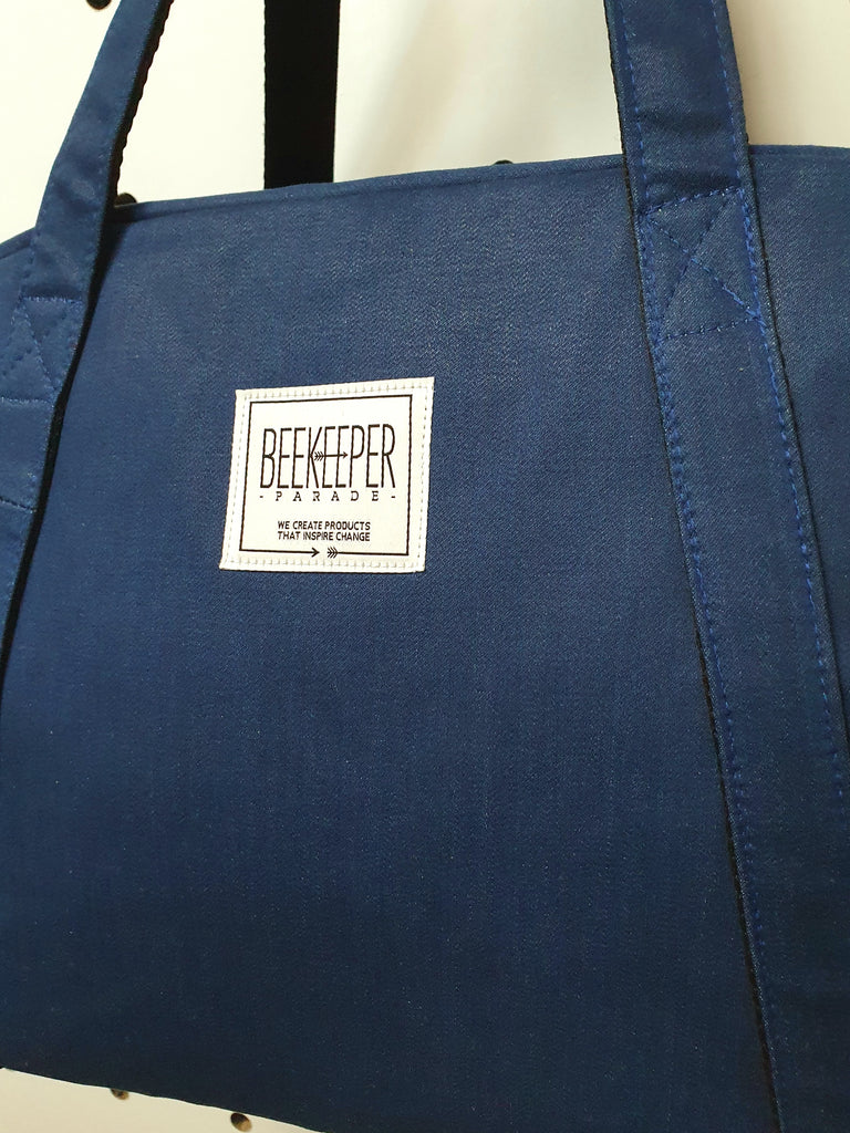 The Retro-Blue Denim Medium BeeKeeper Weekender (Masterpiece)
