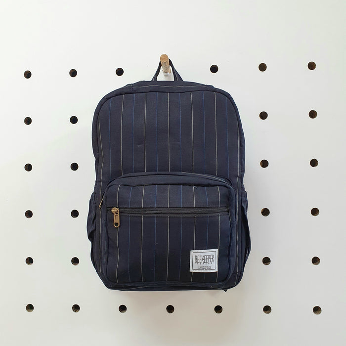 The Navy Pinstripes Mini-Royal BeeKeeper Backpack