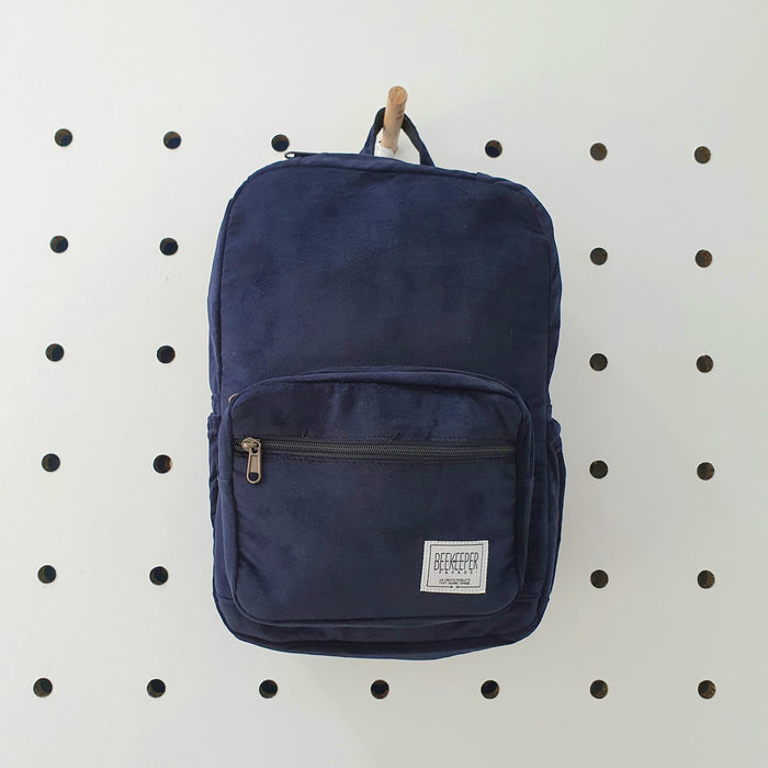 The Panda Navy Corduroy Mini-Royal BeeKeeper Backpack (Masterpiece Range)