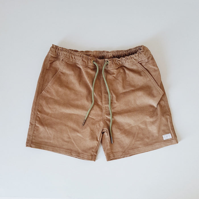The Honeycomb Tan Corduroy BeeKeeper Shorts