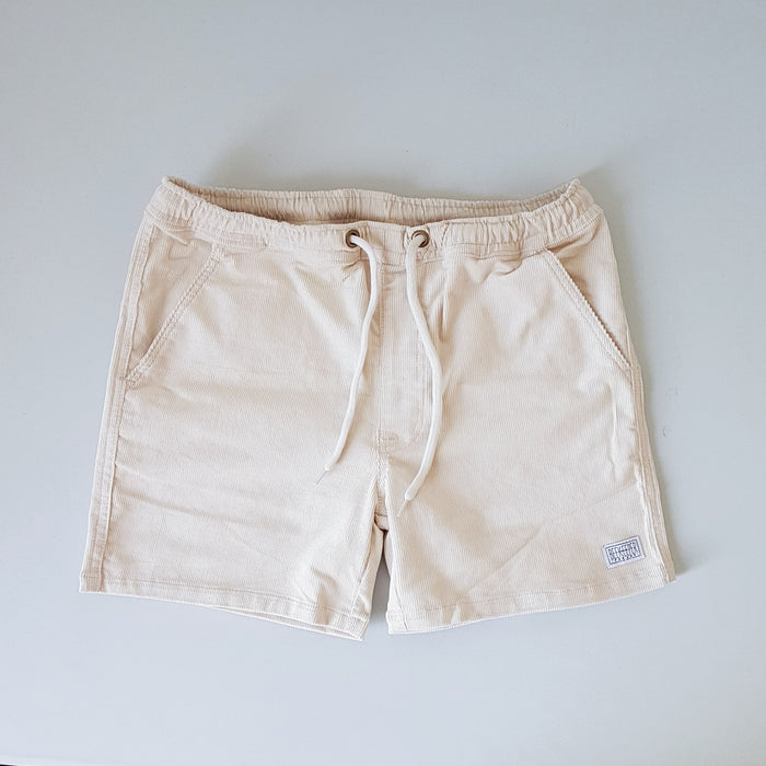 The Polar White Corduroy BeeKeeper Shorts