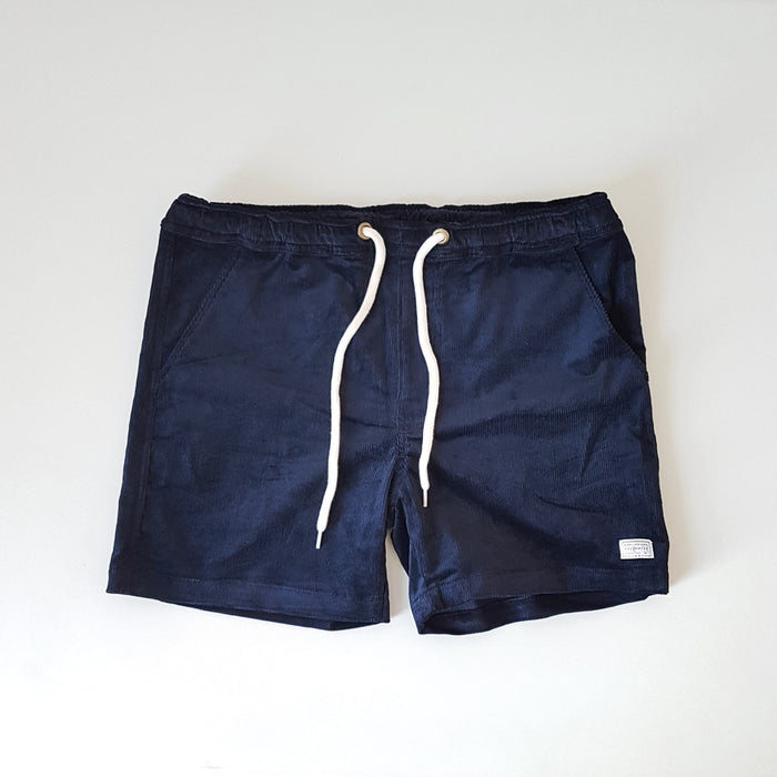 The Navy Blue Corduroy BeeKeeper Shorts