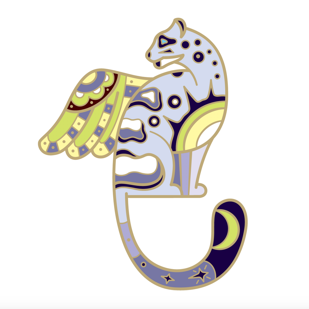 BeeKeeper Parade's Magical Snow Leopard Pin