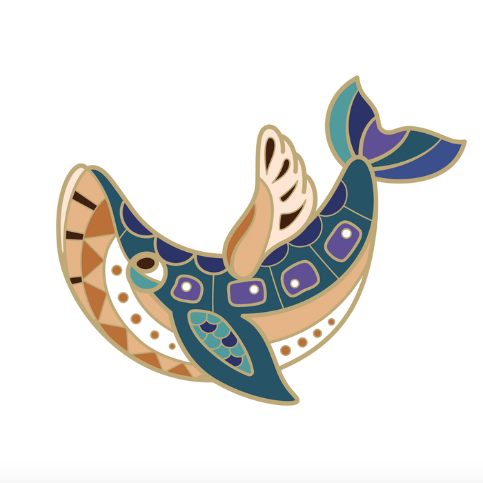 [PRE-SALE] BeeKeeper Parade's Magical Blue Whale Pin