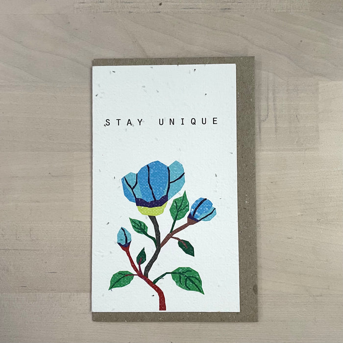 The 'Stay Unique' Card (that grows)