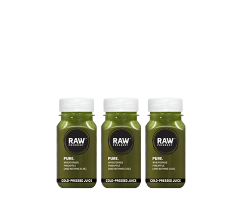Healthy Raw Pressed 3xPure Morning Juice Bundles - Raw Pressery