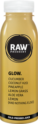 GLOW: Natural Pressed Fruit juice having ingredinets Cucumber, Coconut H2O, Pineapple, Lemon Grass, Aloe Vera, Lemon