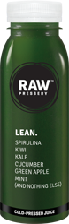 LEAN: Natural Fruit juice having ingredinets Spirulina, Kiwi, Kale, Cucumber, Green Apple, Mint