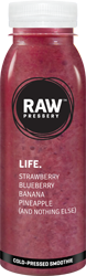 Life: Mix Fruit Smoothie or juice having ingredinets Straeberry, Blueberry, Banana, Pineapple