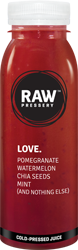 LOVE: Sugar Free juice having ingredients Pomegranate, Watermelon, Chia Seeds, Mint