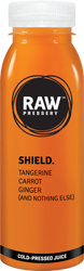 SHIELD: Natural Fruit juice having ingredinets Tangerine, Carrot, Ginger