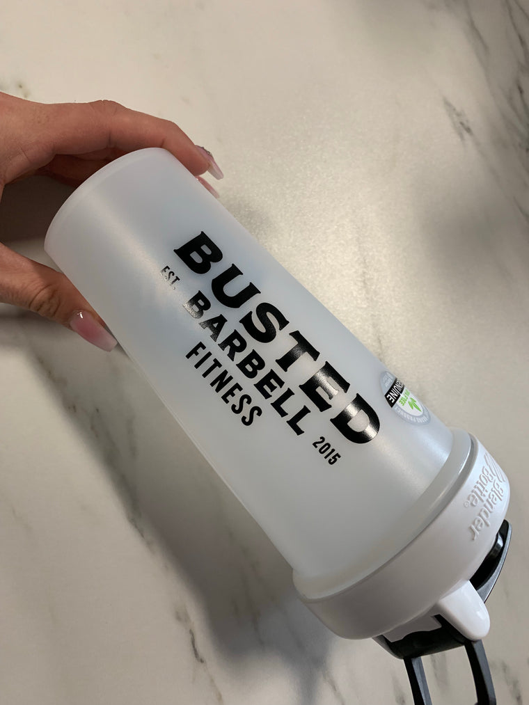 Busted Barbell Custom Blender Blottles