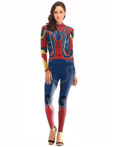 Adult Spider Girl Catsuit Spiderman Marvel Infinity War Iron Costume