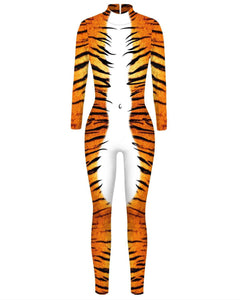 Adult Tiger Catsuit Womens Costume