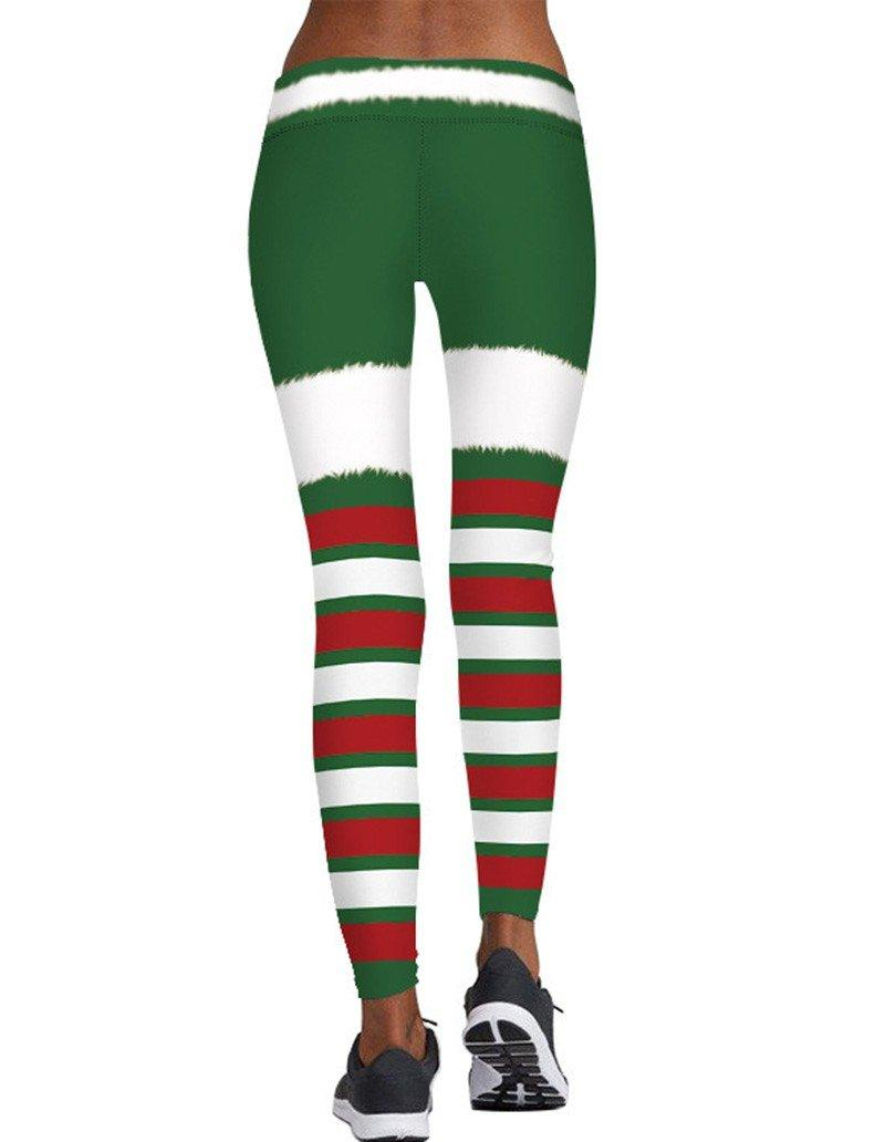 559a3d6f0f Christmas Elf Leggings Womens Workout Yoga Tights – FADCOVER