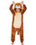 Girls Boys Flannel Lion Onesie Kids One Piece Pajama Costume
