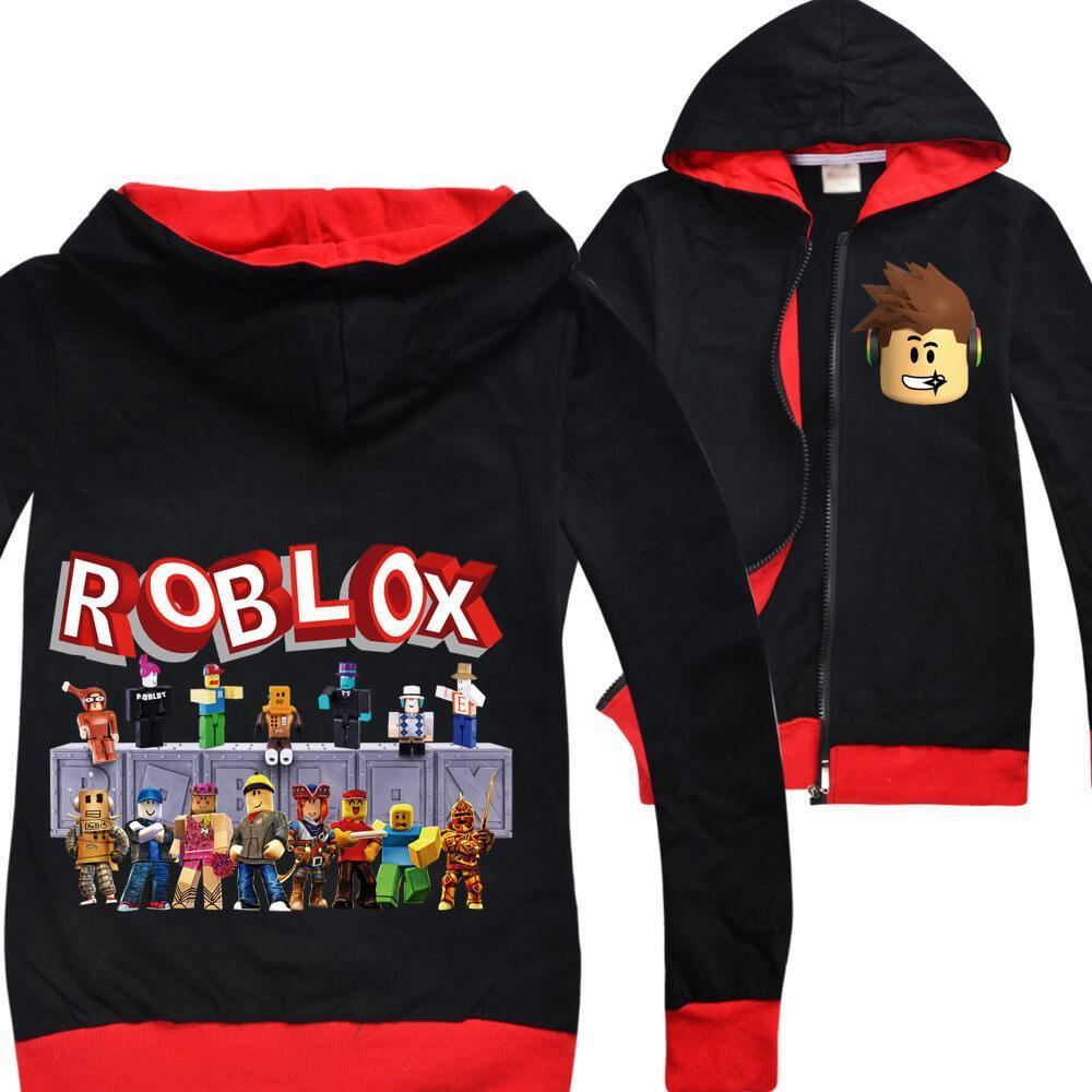 Roblox Character Encyclopedia Print Girls Boys Zip Up Cotton
