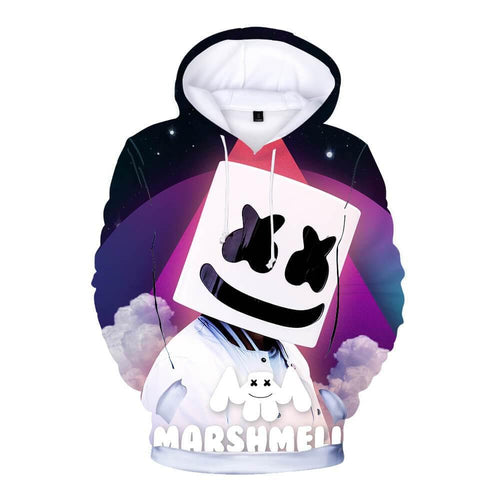 Dj Marshmello In Space 3D Print Boys Girls Cotton Hoodie