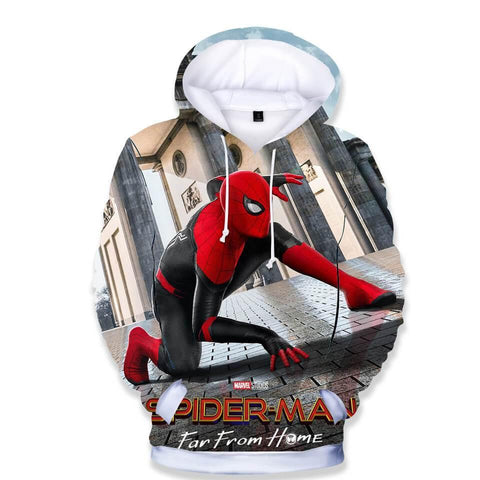 Spider Man Far From Home 3D Print Girls Boys Cotton Pullover Hoodie