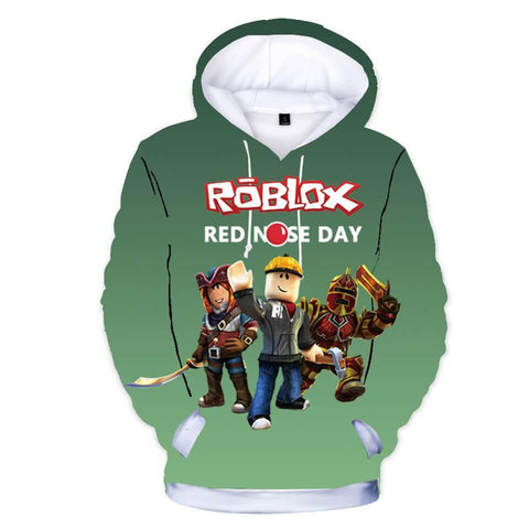 Red Nose Day Roblox 3D Print Girls Boys Cotton Hoodie