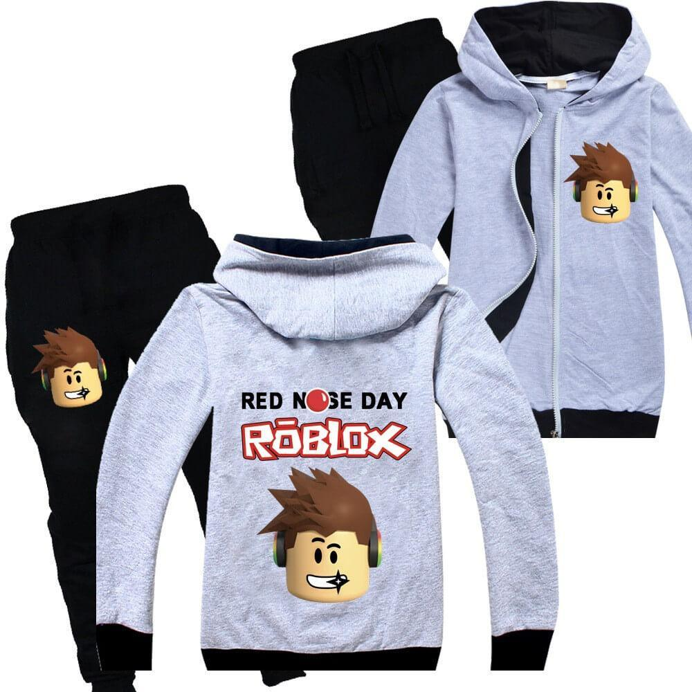 Roblox Print Boys Girls Zip Up Cotton Hoodie And Sweatpants Tracksuit - fashion hoodies roblox boys sports jacket kids cotton sweater child coat