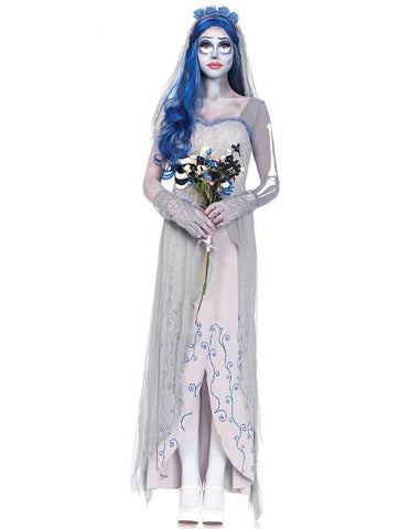 Grey Corpse Bride Cosplay Female Halloween Costume - FADCOVER