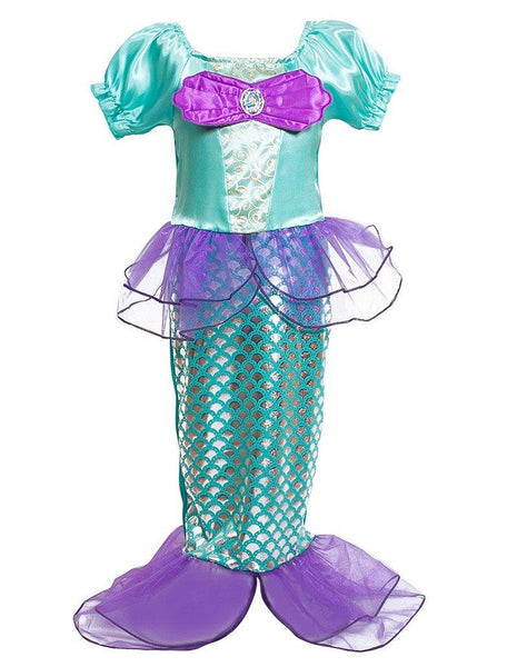 Green Mermaid Dress Halloween Costume For Girls