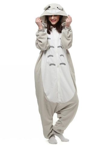 My Neighbor Totoro Fleece Animal Kigurumi One-Piece Pajamas Costume - FADCOVER