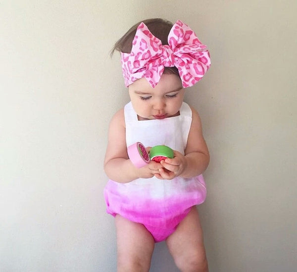 Boutique 12 / 18 mo Girls One Piece Romper Gradient Pink Baby Girl's Clothes Clothing Kids Children Ombre