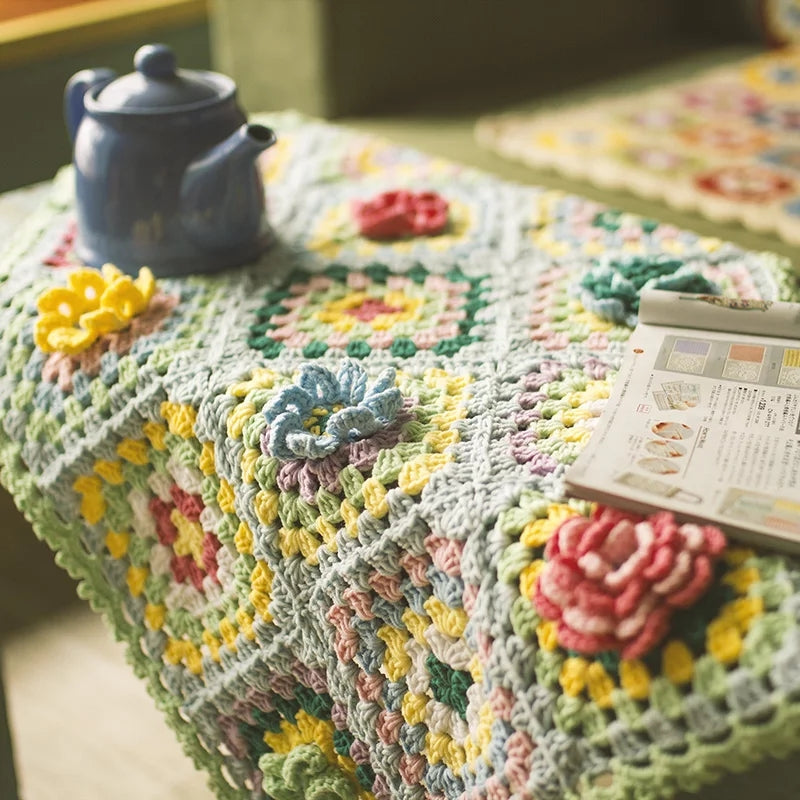 Grandma Handmade Crochet Blanket Granny Squares Finished Throw Colors Styles Baby Shower Girls Boys Wedding Bridal Heirloom Gifts