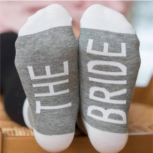 Bride Bridesmaids Wedding Crew Personalized Socks Party Favors Womens Socks that Celebrate Gifts