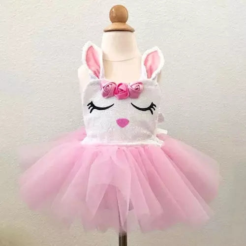 Infant Girls First Easter Tutu One Piece Outfit Romper Dress Easter Bunny Photo Prop Set Baby Shower Gift Idea 0/6 mo 6/12 mo Newborn Girl